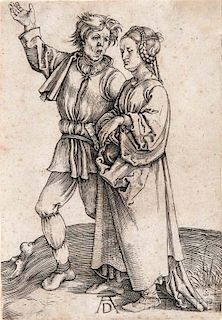 Albrecht Dürer (German, 1471-1528)      The Peasant and His Wife
