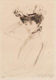 Paul César Helleu (French, 1859-1927)      Étude d'après la Duchesse de Marlborough