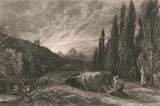Samuel Palmer (British, 1805-1881)      The Early Ploughman