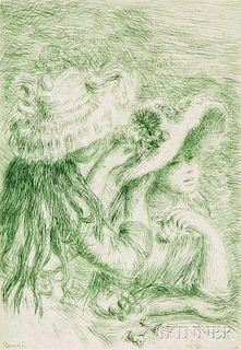 Pierre-Auguste Renoir (French, 1841-1919)      Le chapeau épinglé - 3e planche
