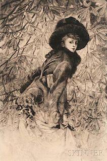 James Jacques Joseph Tissot (French, 1836-1902)      Octobre