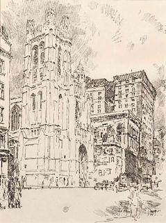 Childe Hassam (American, 1859-1935)      St. Thomas, New York