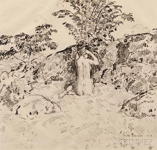 Childe Hassam (American, 1859-1935)      The Wild Cherry Tree