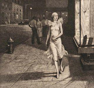 Martin Lewis (American, 1881-1962)      Night in New York