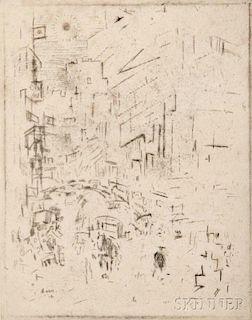 John Marin (American, 1870-1953)      Movement Down Town
