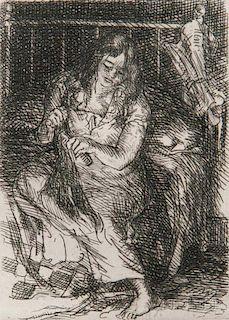 John French Sloan (American, 1871-1951)      Combing her Hair