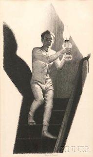 Grant Wood (American, 1891-1942)      Midnight Alarm
