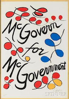 Alexander Calder (American, 1898-1976)      McGovern for McGovernment