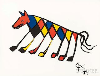 Alexander Calder (American, 1898-1976)      Five Plates from the Suite Flying Colors  :   Beastie ,  Skybird ,  Friendship ,