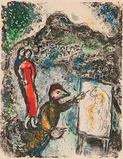 Marc Chagall (Russian/French, 1887-1985)      Devant Saint-Jeannet
