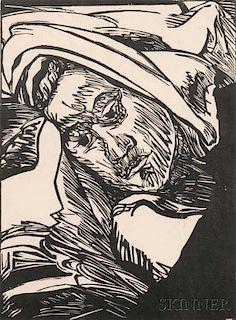Erich Heckel (German, 1883-1970)      Frauenkopf