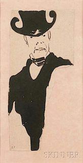 Édouard Vuillard (French, 1868-1940)      L'homme au chapeau d'haute forme