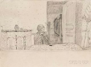 Pierre Bonnard (French, 1867-1947)      Marthe Bonnard in the Dining Room of Le Bosquet, Cannet