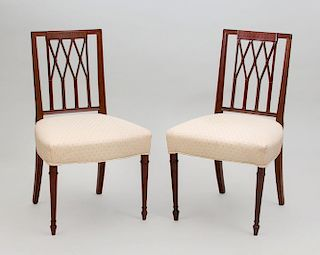 Pair of Federal Style Mahogany Side Chairs