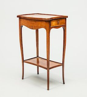 Louis XV Provincial Style Fruitwood Side Table