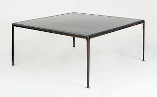Modern Painted Metal Patio Dining Table, Richard Schultz