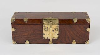 Chinese Brass-Mounted Document Box