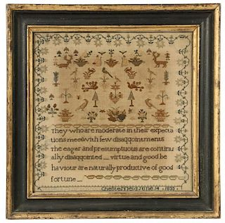FRAMED NEEDLEPOINT SAMPLER