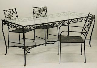 IRON PATIO DINING SET OF TABLE & (6) CHAIRS