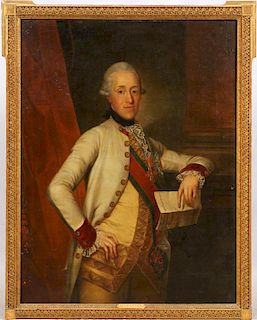 ATTRIBUTED TO SCHRETTER OIL ON CANVAS 18TH C.