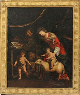 ATT. TO JACQUES STELLA OIL ON CANVAS 18TH C.