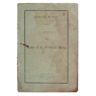 Articles of War for the Government of the Armies of the Confederate States, 1861