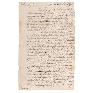 Sir William Johnson Draft of Letter to General Gage, Discussing the Justice System & Treatment of Indians, June 1766