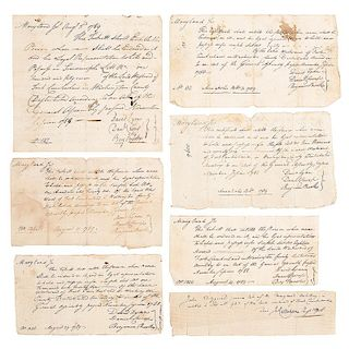 Revolutionary War, Collection of Land Vouchers for Soldiers