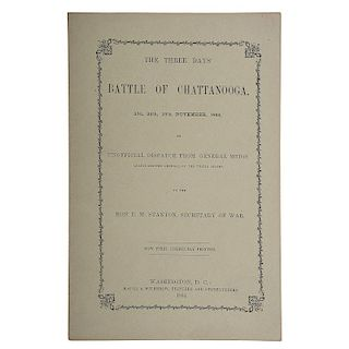 Civil War, Battle of Chattanooga, 1864, Rare Printed General's Report