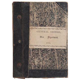 Civil War Bound Volume of General Orders, War Department, 1865