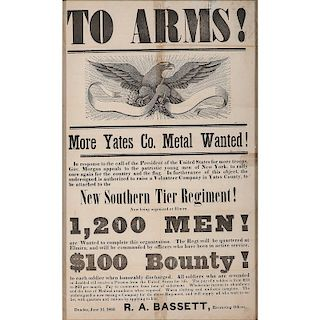 Civil War Recruitment Broadside for the 126th New York Volunteers