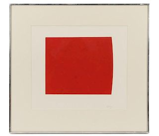 """After Ellsworth Kelly """"Red Curve"""", Lithograph"""