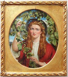 Pre-Raphaelite School Painting British 19th century
