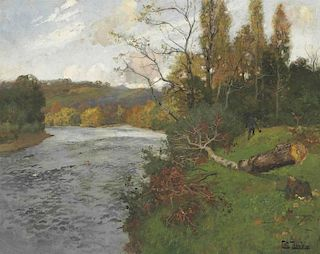 Frits Thaulow (1847-1906) Norwegian Landscape Painting