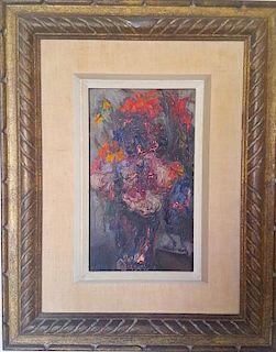 Mane Katz (1894-1962) Impressionist floral painting