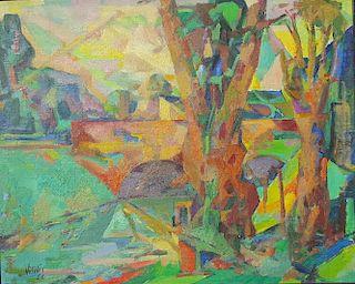 Macario Vitalis (1898-1990) Filipino French Modernist Painting