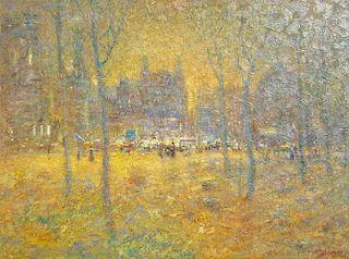 Tom Perkinson Milan Impressionist Painting
