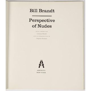 [Photography] Bill Brandt - Perspectives of Nudes, 1st American Edition in DJ.