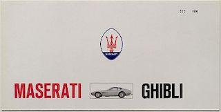 Maserati Ghibli Original Factory Brochure #5000-x-70