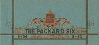 The Packard Six original full line factory brochure