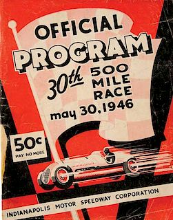 1946 Indianapolis (Indy) 500 official event program