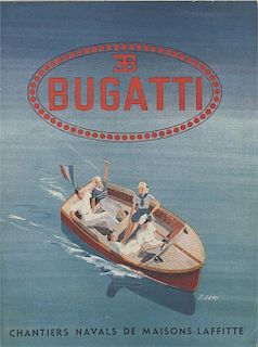 Bugatti You-You Motor Boat sales brochure-1946