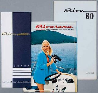 Three Riva boat sales brochures