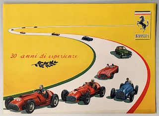 30 anni di esperienze original Ferrari factory sales brochure