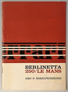 Ferrari 250 Le Mans (LM) original factory owners manual