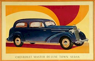 1936 Chevrolet Master Deluxe advertising poster, USA