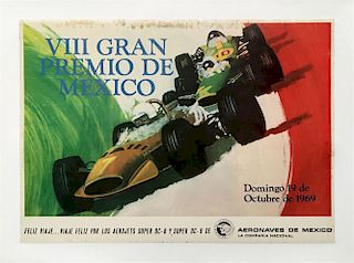 VIII Gran Premio de Mexico 1969 original poster