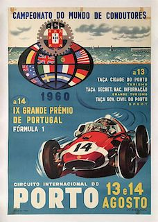 G.P. of Portugal 1960 original poster in Porto