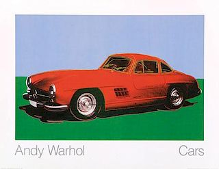 Cars by Andy Warhol (300SL) Original Poster