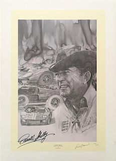 Autographed Carroll Shelby print by Graig Warwick